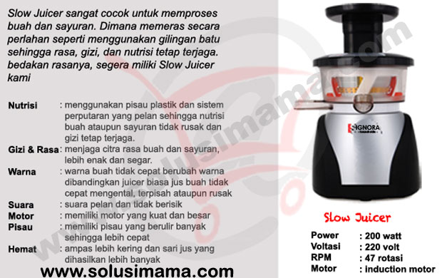 Beda Slow Juicer Dan Juicer Biasa : Solusi Mama - Slow Juicer